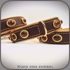 KvK - Oval Stones on strong oil-dressed Leather