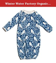 Winter Water Factory Organic Cotton Gown (3M (0-3 Months), Navy Birds & Berries). The perfect layette gown in our classic prints. Winter Water Factory is a Brooklyn-based design and manufacturing company specializing in screen printed textiles and organic kids' clothing. Fresh, bold, and beautiful textile prints are the signature of Winter Water Factory. Every item is crafted from 100% certified organic cotton and is made in the USA from the fabric to the final stitch.