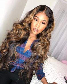 virgin indian body wave hair – My CMS Cheap Human Hair, Human Hair Wigs, Curly Hair Styles, Natural Hair Styles, Hair Laid, Body Wave Hair, Love Hair, Wig Hairstyles, Black Weave Hairstyles