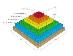 Eco Food Safe Wood Block Pyramid