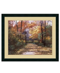 Amanti Art Wall Art, Autumn Road Framed Art Print by Diane Romanello - Wall Art - for the home - Macy's