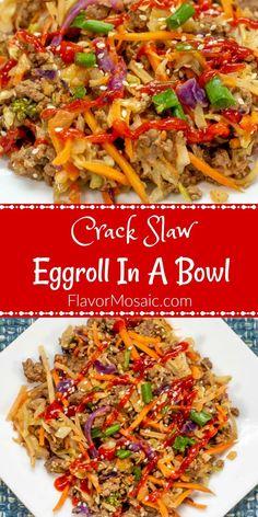 Crack Slaw, Egg Roll Recipes, Slaw Recipes, Beef Recipes, Cooking Recipes, One Skillet Meals, One Pot Meals, Best Low Carb Recipes, Healthy Recipes