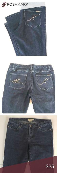 "Michael Kors Dark Wash Jeans Michael Michael KorsSize 8. Approx. 32"" inseam, 8.5"" rise, 16.5"" flat waist. 98% cotton, 2% spandex for a nice fit. Michael Kors Jeans"