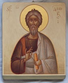 Andrew by Gabriel Toma Chituc Religious Images, Religious Art, Like Icon, Byzantine Art, Orthodox Icons, Beautiful Images, Gabriel, Saints, Religion