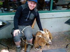 Twitter / Gallery - vanwa - man with goat on way to NYC