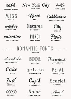 25 romantic fonts | a subtle revelry.