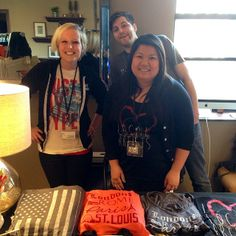 Mick, Giang, Jojo and I representing Shirt Kong at the #STLFW VIP Blogger Lounge! We were so excited to connect with all of the #local bloggers! #screenprinting #bloggerlounge #stoked