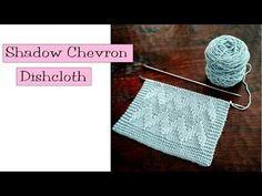 Fancy Stitch Combo - Shadow Chevron Dishcloth - v e r y p i n k . c o m - knitting patterns and video tutorials