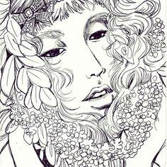 Sketch Woman Face Illustration Art Drawing
