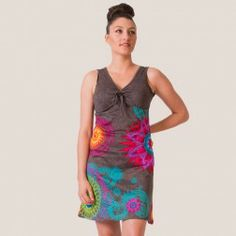 Vêtements ethniques grandes tailles, les vêtements de cette catégorie vont jusqu'au 48 ou 50 ou XXL  Robe grise MARTHA