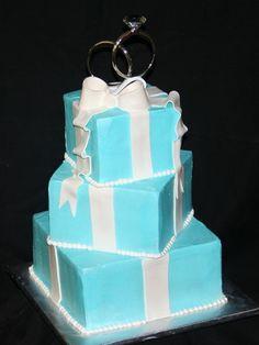 love tiffany blue Tiffany Wedding Cakes, Tiffany Blue Party, Tiffany Cakes, Tiffany Blue Weddings, White Wedding Cakes, Tiffany Box, Cake Wedding, Wedding Gift Boxes, Wedding Ideas