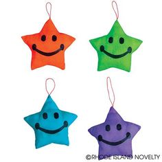 Gaze at our Satin Star Plush! Our Stars come with a loop at the top that makes them perfect for tree ornaments or as a wall decoration! You can even use this charm as a keychain! Comes in four colors. Ages 5+ #backtoschool #ilovemystudents #education #learning #nerdalert