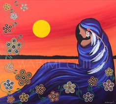 Evening Sun Woman by Betty Albert (Wabimeguil) Native American Paintings, Native American Wisdom, Deviant Art, Fantasy Kunst, Fantasy Art, Kunst Der Aborigines, Spirited Art, American Indian Art, American Women