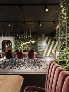 Best ways to decorate restaurant and unique ideas to do it! Interior design trends to decor your restaurant! Restaurant Interior Design, Commercial Interior Design, Home Interior, Restaurant Interiors, Luxury Interior, Design Bar Restaurant, Cafe Restaurant, Restaurant Marketing, Modern Restaurant
