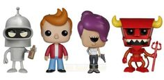 Hey sexy mama, wanna kill all humans? Funko POP! Animation Futurama Bundle is here! - featuring Bender, Fry, Leela, and Robot Devil Vinyl Figures! Each figure measures approximately 3 3/4-inches tall. Check out the other Futurama figures from Funko! #FuturamaBundle #funko #vinylpop #actionfigures #collectibles