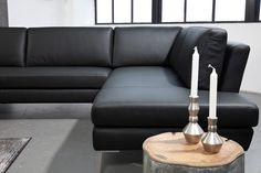 Billede af Visano - Sort lædersofa - højre - Sofa i læder hos BoShop - Sofaer i Århus.
