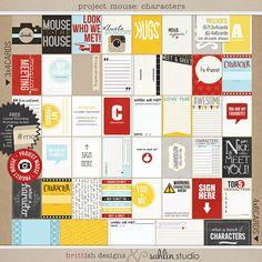 "Project Mouse: ""Character Moments"" + FREEBIE | Sahlin Studio | Digital Scrapbooking Designs"