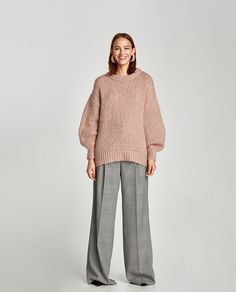MOHAIR SWEATER WITH PUFFY SLEEVES
