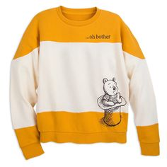 Blustery days will never be a bother while wearing this Winnie the Pooh pullover sweater. Cute Disney Outfits, Disney Themed Outfits, Cute Outfits, Disney Clothes, Disney Clothing For Women, Winnie The Pooh Shirt, Winnie The Pooh Friends, Disney Sweaters, Disney Shirts