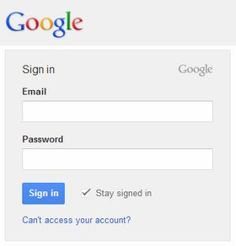 Google Log-in — Simple & straight-forward.