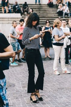 It's not a street style picture unless you're on your phone.