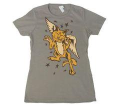 Women's Gray Oliver the Angel by Jason Knudson  #shirt #tshirt #artshirt #fashion