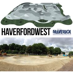 The new Maverick Skatepark in Haverfordwest is now well under way......  and it's BIG!