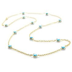 """Rarities: Fine Jewelry with Carol Brodie Crown Spring Turquoise 36"""" Necklace"""