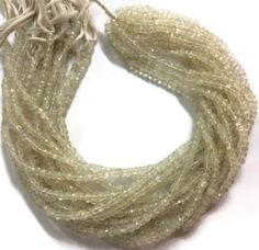 Other Loose Beads 179275: A+ 5 Strands White Moonstone Faceted Gemstone Beads 3-4Mm 13Inch BUY IT NOW ONLY: $49.99