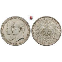 Deutsches Kaiserreich, Mecklenburg-Schwerin, Friedrich Franz IV., 2 Mark 1904, Hochzeit, A, f.vz/vz, J. 86: Friedrich Franz IV.… #coins