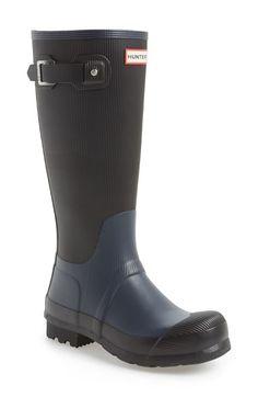 sports shoes 490f6 9aca5 Hunter  Original Tall  Ribbed Rain Boot (Men) available at  Nordstrom S