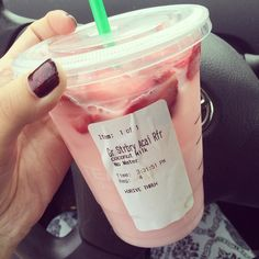 Finally tried the Starbucks #pinkdrink everyone is raving about. Strawberry acai refresher with coconut milk instead of water. It was delicious and had a lot more caffeine than I anticipated. #Starbucks #vegan #strawberryacai by disneylandvegan