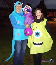 monsters inc family costume tutorial mike sully and boo - Sully Halloween Costumes Monsters Inc