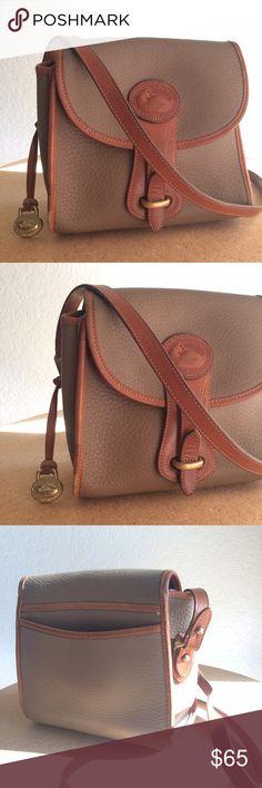 Vintage D&B Crossbody Handbag Adorable little crossbody by Dooney & Bourke! In good vintage condition. Neutral cream color. Vintage Bags Crossbody Bags