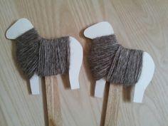 A Spoonful of Crafts: Påskelam til potteplanter / Easter Lambs for Flower Pots