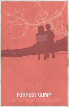 Forrest Gump (1994) ~ Minimal Movie Poster by SanaSini #amusementphile