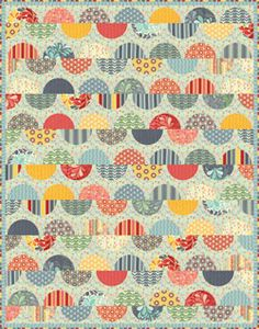 love this Salt Air fabric by Cosmo Cricket -- fun quilt kit, too!