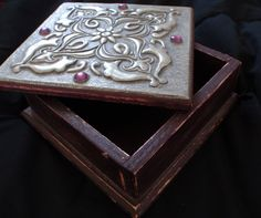 Handmade Pewter Embossed Jewelry Box by AbuelasCloset on Etsy, $10.00