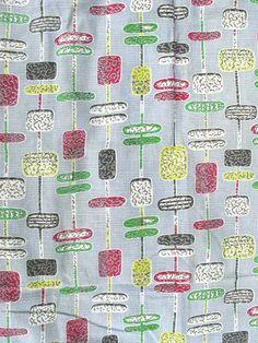 Wonderfull design and colour,original Vintage /Retro 1950's fabric / curtain