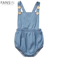 4201ed4e3838 Aliexpress.com   Buy Newborn Baby Girl Denim Romper Summer Infant  Sleeveless Back Cross Jumpsuit Outfits One Pieces Sunsuit Children Rompers  Clothing from ...