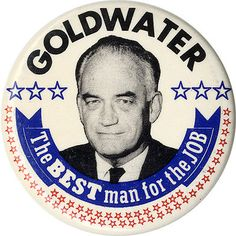 1193 Large 1964 Goldwater Miller A CHOICE NOT AN ECHO Jugate Campaign Button