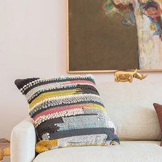 Textural pillow. | Loloi Rugs love the lil gilded rino...