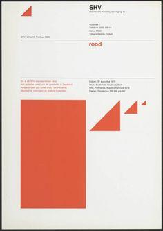 Standaardkleuren blauw en rood huisstijlprogramma Benno Wissing Steenkolen Handels Vereeniging SHV 1970