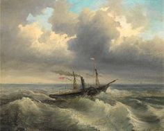 View Shipping through rough waters by Aleksei Petrovich Bogolyubov on artnet. Browse upcoming and past auction lots by Aleksei Petrovich Bogolyubov. Seascape Paintings, Moonlight, Oil On Canvas, Sunrise, Auction, Ship, Water, Artist, Art Nature