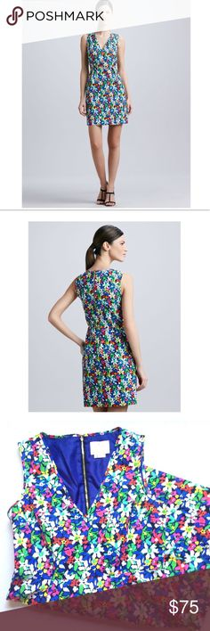 """Kate Spade Mira Floral print dress Kate Spade Mira Floral print dress in size 8. Materials shell:73% cotton, 27%silk, lining: 100% polyester."""" Pit to pit 18.5"""", length 35"""". There's some stitching done because of tear ↪️pls see photos, no stains. kate spade Dresses"""