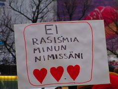 Travelling with camera obscura: Ei minun nimissäni: Stop racism