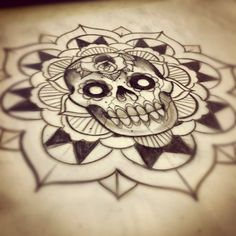 Skull mandala design. #tattoo #tattoos #ink