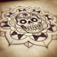 Skull mandala design. #tattoo #tattoos #ink