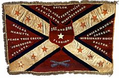 Florida Infantry battle flag. Florida C W militaria is very rare