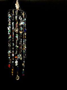 Boho Decor Bohemian Inspired Mobile Suncatcher Hanging by LiLaOh